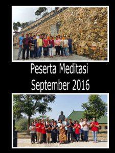 Foto grup Samarinda sebelum dan sesudah latihan meditasi