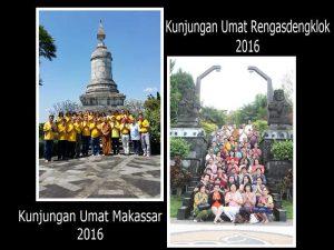 Kunjungan umat dari Makassar dan Rengasdengklok pada masa vassa 2016