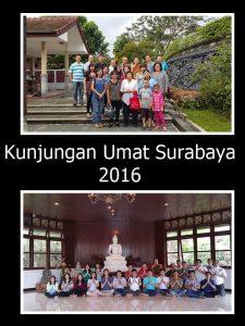 Kunjungan umat dari Surabaya ke Vihara Bodhigiri pada masa vassa 2016