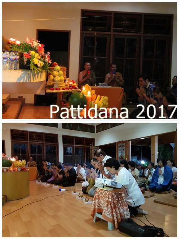 Puja Bakti oleh Bhikkhu Sangha & Perwakilan Tuang Jasa Untuk Para Leluhur